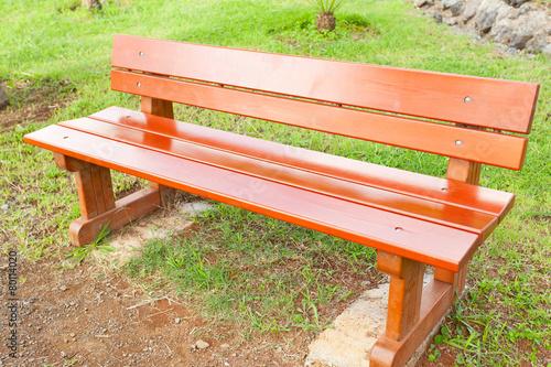 banc de jardin en bois rouge, banc public\