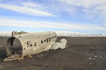 il relitto aereo nella spiaggia Islandese di Sólheimasandur