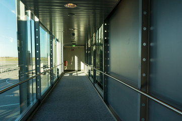 empty corridor in the modern office building.
