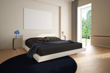 Hotelzimmer mit Teppich