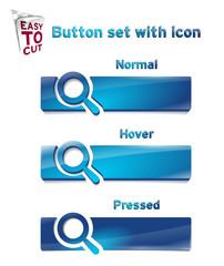 Obraz Button_Set_with_icon_1_196 - fototapety do salonu