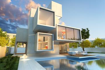 Original modern mansion