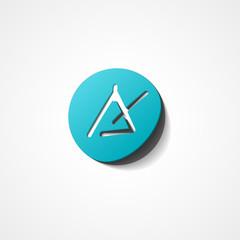 Triangle instrument web icon