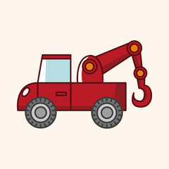 transportation tow truck theme elements