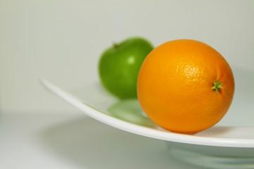 Aluminium Prints Grocery Sinaasappel en appel