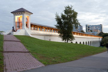 reconstructed aqueduct. Russia. Moscow. Rostokino