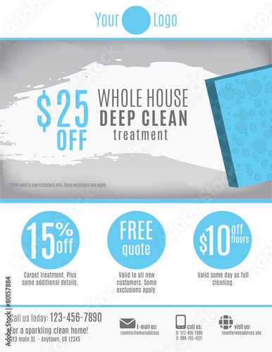 Cleaning Service Flyer Template With Coupons  Coupon Flyer Template