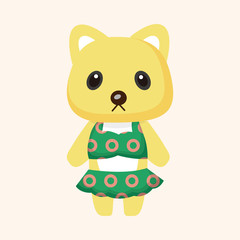 animal cat summer cartoon theme elements