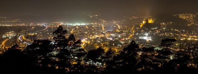 Obraz marburg germany at night as an panoramic view - fototapety do salonu