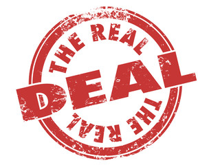 The Real Deal Red Grunge Stamp Authentic Original Approved Legit