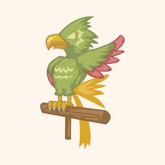 pirate parrot theme elements