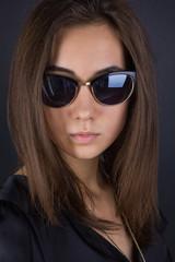 portrait of a girl in sunglasses