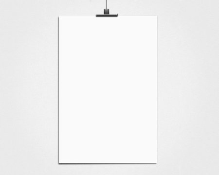 white poster on a rope