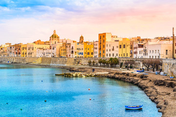 Trapani panoramic view, Sicily, Italy