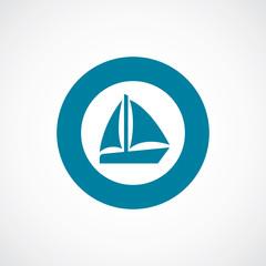 sail boat icon bold blue circle border