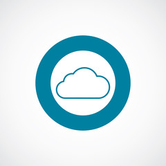 cloud icon bold blue circle border