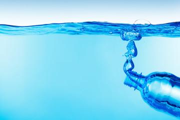 Bottle under water