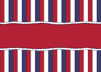 Torn paper in official colors of USA