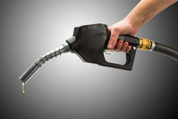 refuel gas with pump nozzle