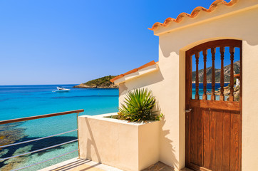 Wall Mural - Entrance doot to holiday villa in Camp de Mar, Majorca island
