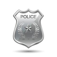 Police Badge isolated on white background