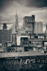 Wall Mural - Graffiti and urban buildings in downtown Manhattan.