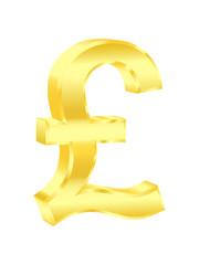 Pound sterling sign. Vector illustration