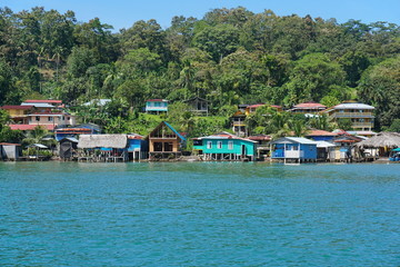 Coastal Caribbean village in Panama