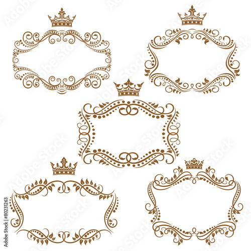 royal vintage brown borders and frames stock image and royalty free