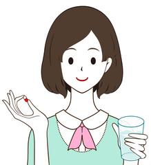 女性 薬 カプセル