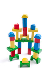 Stack of Toy Wooden Blocks