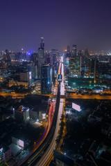 Cross road, Bangkok cityscape.