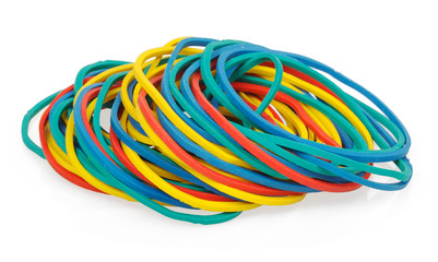 Multicolor rubber money bands