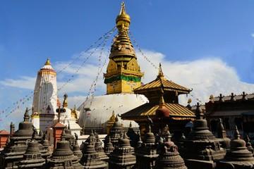 Buddhist Monkey temple stupa in Kathmandu