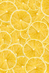 Lemon Slice Abstract Seamless Pattern