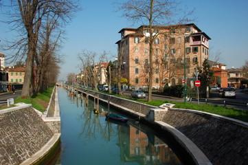 Canal at Lido Island near Venice, Italy