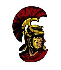Vector gladiator head illustration