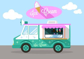 Vector ice cream flat illustration