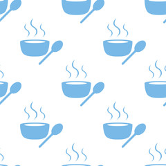 Lunch time seamless pattern