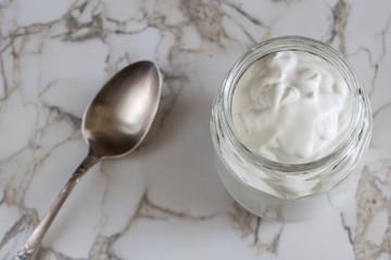 Jar with cream