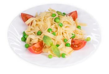 Italian pasta with basil