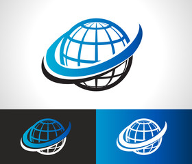 Swoosh World Logo Icon