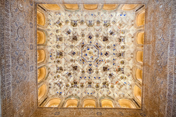 Fototapete - Alhambra de Granada. Vault in Nasrid Palaces