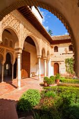 Wall Mural - Alhambra de Granada. The Generalife's gardens