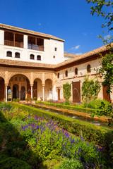 Wall Mural - Alhambra de Granada. Generalife's fountain and gardens