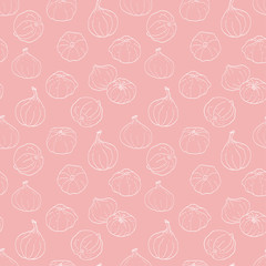 Hand drawn figs seamless pattern
