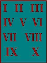 Römische Zahlen rot