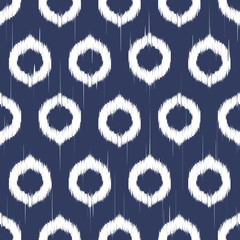 Vector seamless ikat pattern