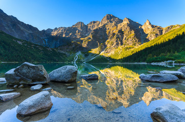 Sunrise at Morskie Oko lake in Tatra Mountains, Poland