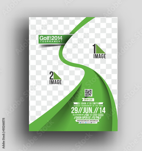 Golf Tournament Flyer  Poster Template Stock Image And Royalty